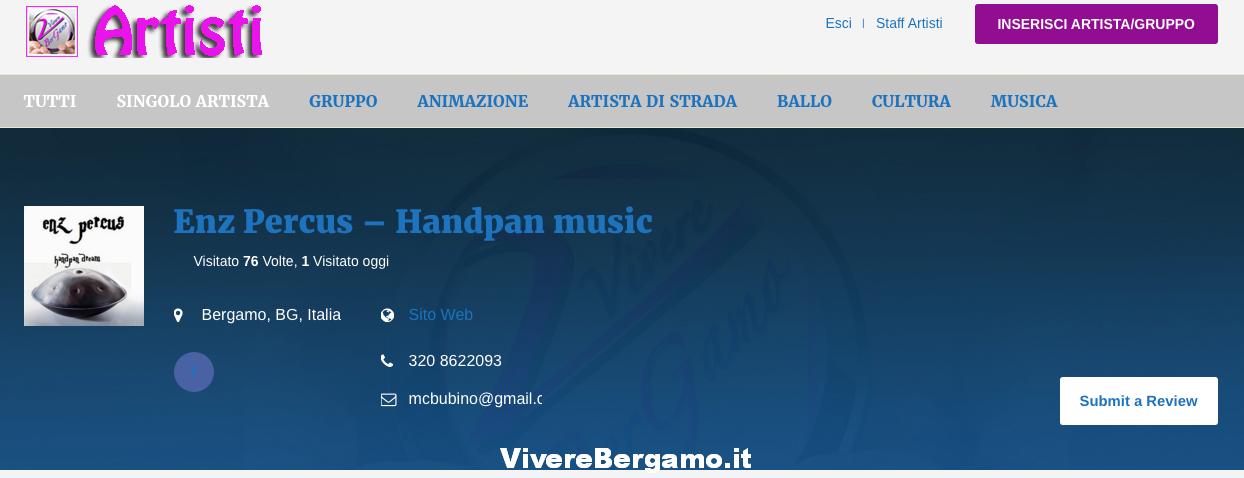 Scheda Artista Vivere Bergamo
