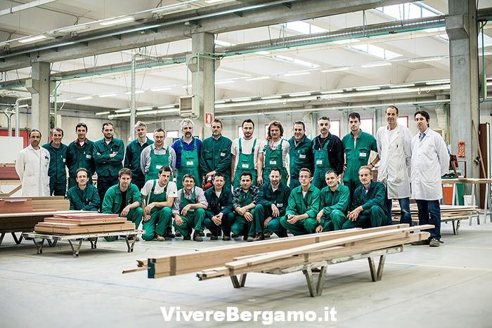 allievi scuola falegname Bergamo