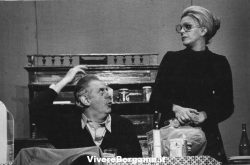 Dario Fo con la moglie Franca Rame