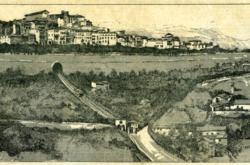 BERGAMO_Disegno a stampa della funicolare di Bergamo (5 novembre 1887)
