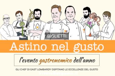 Astino nel gusto Bergamo 2017 con Klugmann, Oldani, Beck, Cracco, Cannavacciuolo, Cerea